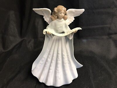 "Lladro Figural Porcelain Angel Tree Topper  ~  7"" Tall  ~  #5719"