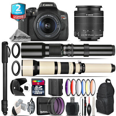 Canon EOS Rebel T6i + 18-55mm IS STM + 9PC Filter + Extra Battery - 32GB Kit