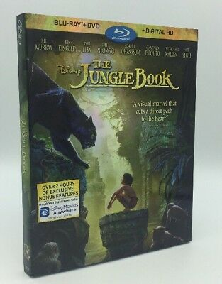 Jungle Book, The (Blu-ray+DVD+Digital, 2016; 2-Disc Set) NEW w/ Slipcover