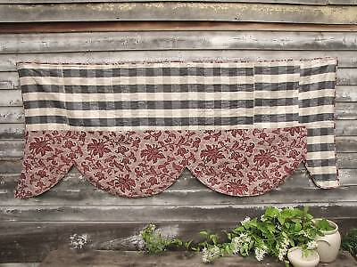 Piece TWO ~ lovely quilted design antique French textile 19th century Vichy  ~