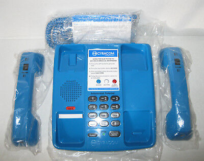 New Cyracom VT-801 Dual Handset Blue Medical Phone Over The Phone Translation