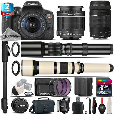 Canon EOS Rebel T6i + 18-55mm IS STM + 75-300mm III + 500-1300mm - 32GB Kit