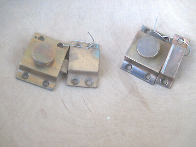 VINTAGE BRASS DOOR KNOB LOCK SET have two  not the same  but close