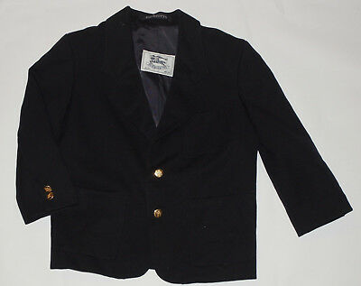 Boy's Burberrys Navy Blue Wool Blazer! Brass Buttons! Made In England! Ages 3-4