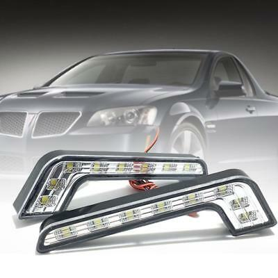 2X 12V 8 LED Daytime Running Light DRL Car Fog Day Driving Universal White Lamp%