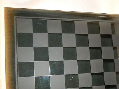 Chess Board -  Bevilled Frosted Glass Chess Board .