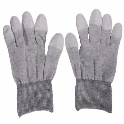 Safe Gloves Anti-static Anti-skid PU Finger Top Coated for Electronic RepairWork