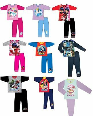 Childrens Boys Girls Kids Official Cotton Character Disney Marvel Pyjamas Pjs