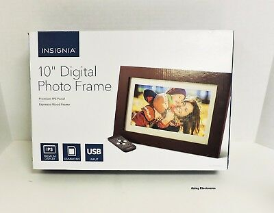 "Insignia 10"" Widescreen LCD Digital Photo Frame Espresso"