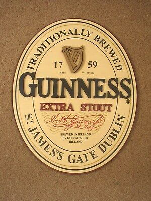 Guinness Extra Stout large wooden Sign, unused