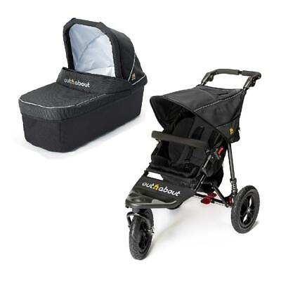 Out n About Nipper 360 v4 Pushchair & Carrycot (Raven Black) - RRP £469.95