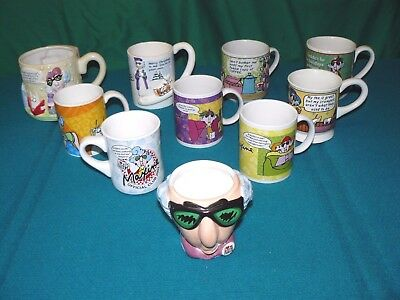 Lot of 10 : MAXINE from HALLMARK CARDS : Coffee Mugs @ OVER the HILL