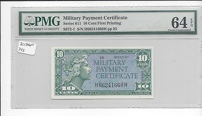 MPC Series 611  10 cents   PMG 64EPQ  CHOICE  UNC
