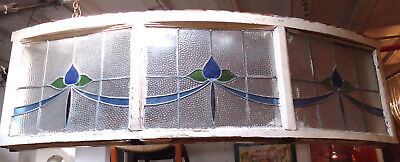 Large Vintage Stained Glass Window (09265)NS