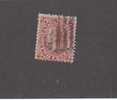 CANADA # 20 FVF-LIGHT USED 2cts ROSE CAT VALUE $200