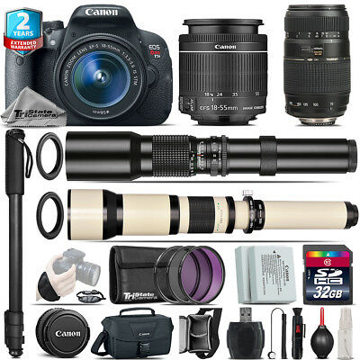 Canon EOS Rebel T5i + 18-55mm IS STM + Tamron 70-300mm + 500-1300mm - 32GB Kit