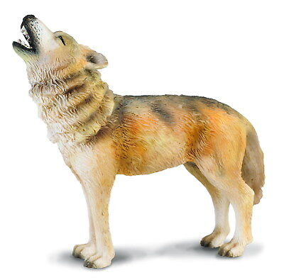 Breyer CollectA 88341 Howling Wolf  realistic well made miniatures <><