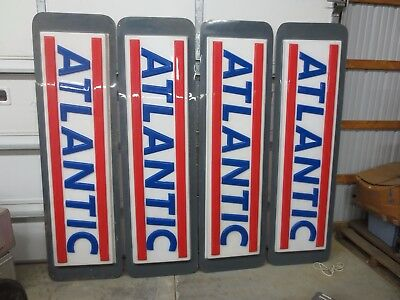 """(4) Atlantic Oil/Gas Large Signs 86.5"""" x 24.5"""""""