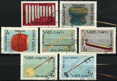 Vietnam 1985 SG#899-905 Traditional Musical Instruments Cto Used Set #D59743