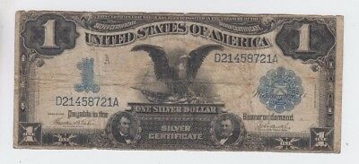 Silver Certificate $1 1899 vg stains Hard fold