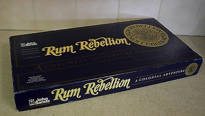 VINTAGE John Sands RUM REBELLION Complete Board Game AUSTRALIAN COLONIAL HISTORY