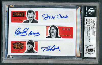 Cook, Owen & Gentry ALABAMA 1/49 signed Panini Country Music BAS Slabbed Auto 10