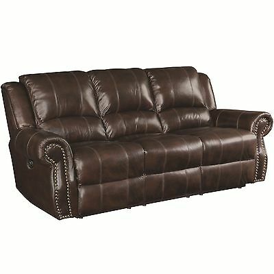 RUSTIC BURGUNDY BROWN Top Grain Traditional Leather Sofa ...