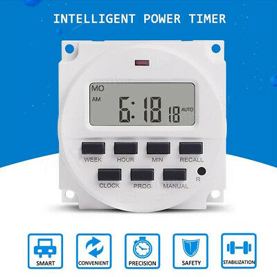 LCD Digital Programmable Power Timer Control Time Relay Switch Weekly 12V - 220V
