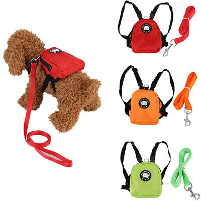 Dog Bag Pet Puppy Cat Backpack Outdoor Bag For Small Dog With Lead Leash S L