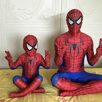 Spiderman Fancy Dress Children Adult Costume Halloween Party Clothes Cosplay Hot