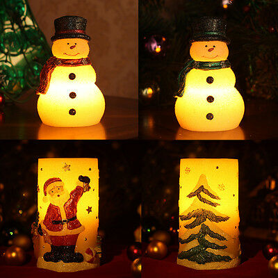 weihnachtskerze led lichterkette schneemann lampe. Black Bedroom Furniture Sets. Home Design Ideas