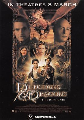 Dungeons & Dragons movie March 2001 Motorola postcard NM/Mint condition