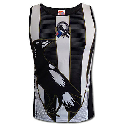 AFL Collingwood Magpies Youth Training Singlet Size 10 years