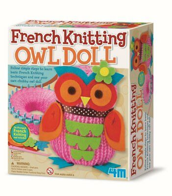 4M French Knitting Owl Doll: Learn basic french knitting techniques - Ages 8 plu