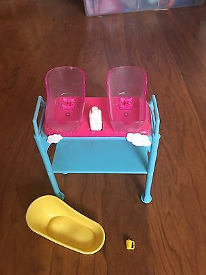 Barbie Vintage Baby Infant Exam Table Scale Twins Pediatrician