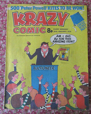Krazy Comic. 28 January 1978. Vfn Condition.