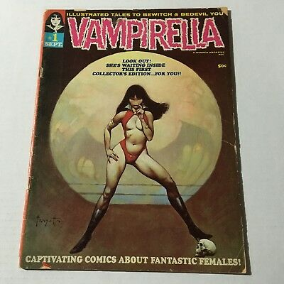 VAMPIRELLA #1 Warren 1969 Comic September FRANK FRAZETTA Cover