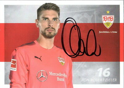 ron robert zieler vfb stuttgart autogrammkarte saison. Black Bedroom Furniture Sets. Home Design Ideas