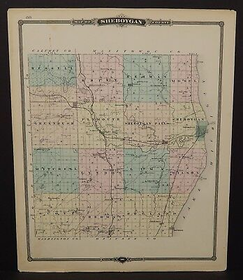 Wisconsin Sheboygan County or Fond Du Lac 1877 Single Pg Special Price! L14#20