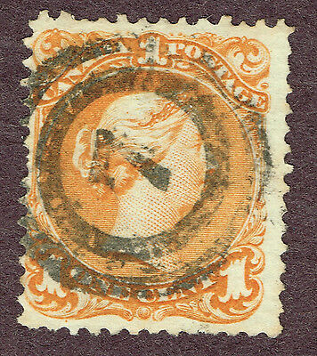 Canada Large Queen #23  Fine 2-Ring Cancel (Uly2,3
