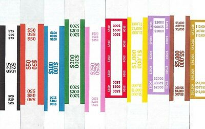 30 Self Adhesive Us Currency Strap Bands You Choose How Many Of Each You Want