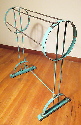 c1930 Art Deco Towel Or Blanket Stand Rack All Metal Needs Some Love Good Bones
