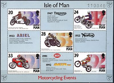 Isle Of Man 1993 SG#MS572 Manx Motorcycling Events MNH M/S #D59806