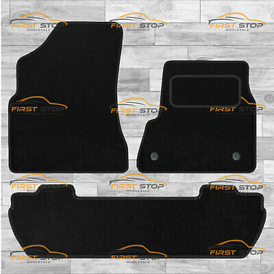 Peugeot Partner Tepee 2008-On Fully Tailored Classic Car Floor Mats Black