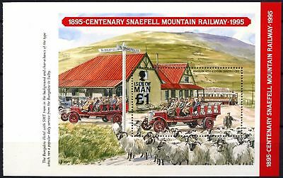 Isle Of Man 1995 SG#MS638a Snaefall Mountain Railway MNH M/S Booklet Pane#D59815