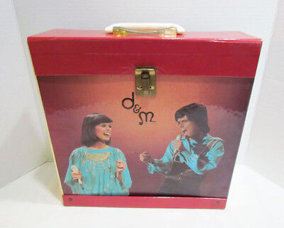 Donny & Marie Osmond The Osmonds 1977 Lp Record Album Carrying Case Vintage
