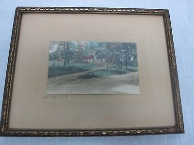 """Vintage Fred Thompson """"from The Days Of '76"""" Framed Hand Tinted Photograph"""