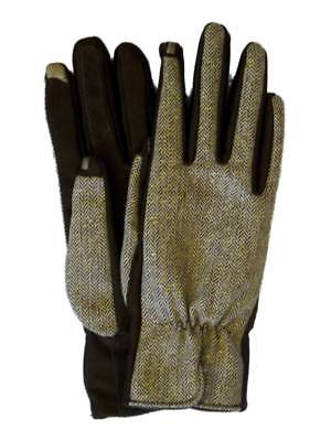 Isotoner Smart Touch Womens Brown Tweed Tech Gloves Smartouch Text