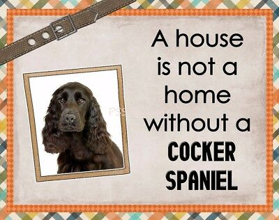 COCKER SPANIEL Custom Magnet Using YOUR Photo A House Is Not A Home
