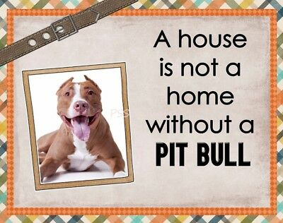 PIT BULL TERRIER Custom Magnet Using YOUR Photo A House Is Not A Home